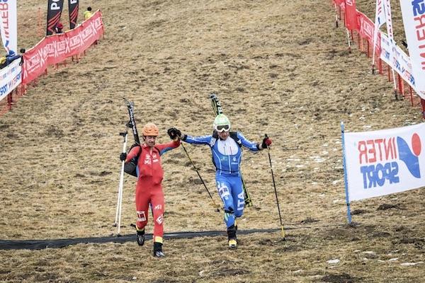 Michele Boscacci, Kilian Jornet Burgada, Valtellina Orobie 2016, Coppa del Mondo di Scialpinismo. Fonte: ISMF