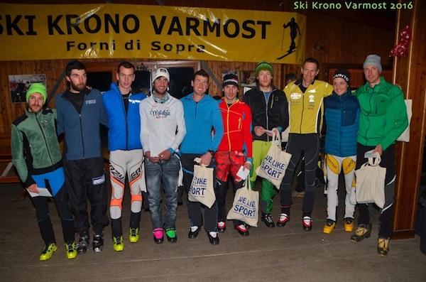 Krono Varmost 2016. Podio assoluto maschile. Foto: Alberto Cella