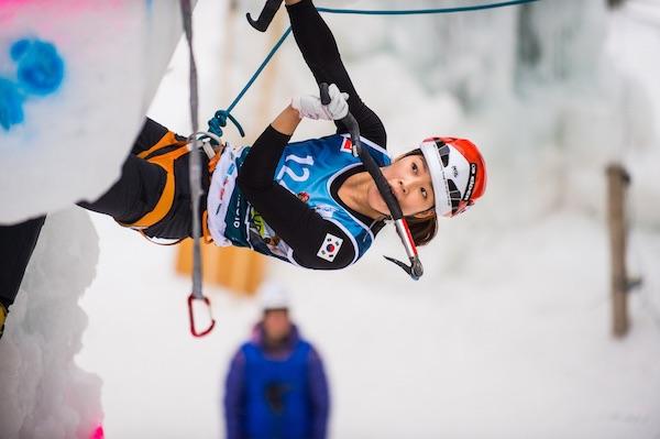 UIAA Ice Climbing World Cup 2016, Corvara (Italia). Han Na Rai Song. Foto: Patrick Schwienbacher
