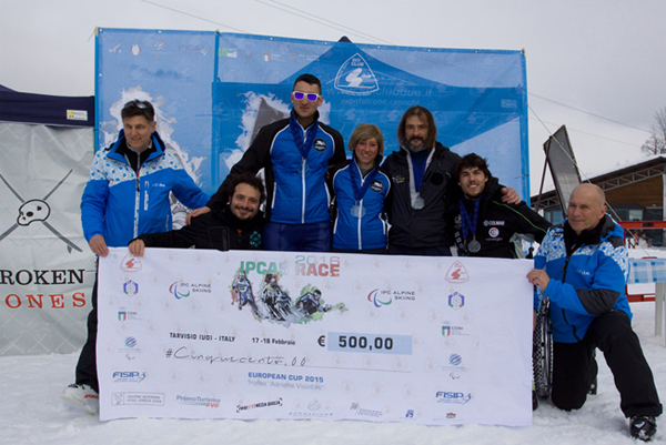 Tarvisio: Sci Paralimpico. Italia best team 2016. Foto: Alberto Zimolo