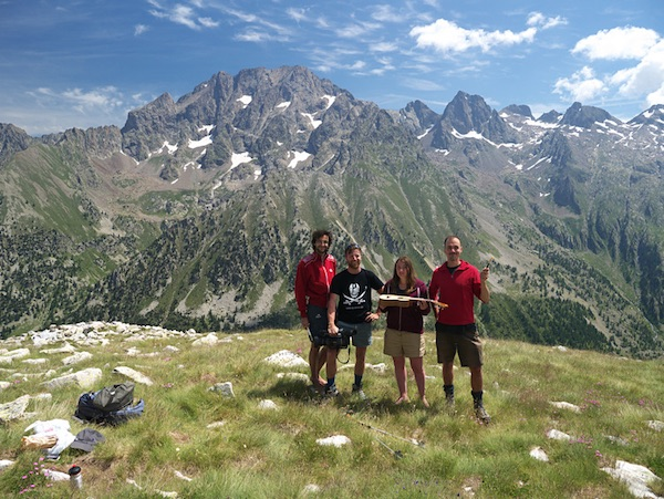 Alpi Marittime. I quattro artisti di Invisibilmente visibili. fonte: lemarittimeinvisibili.it
