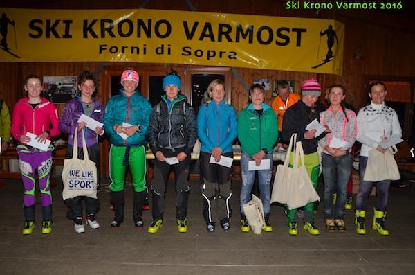 Krono Varmost 2016. Podio assoluto femminile. Foto: Alberto Cella