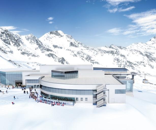 Stazione a monte della 3S Eisgratbahn. Foto: Stubaier Gletscher
