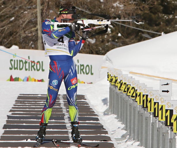 IBU Cup Biathlon 2016, Val Martello, Antonin Guigonnat. Fonte: press gara