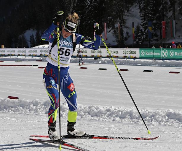 IBU Cup Biathlon 2016, Val Martello, Marine Bolliet. Fonte: press gara