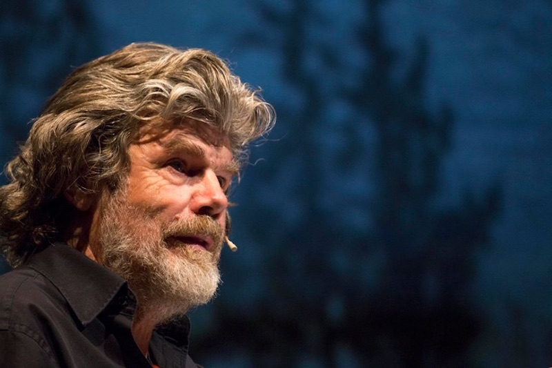 Reinhold Messner. Fonte: pagina facebook TFF 2016