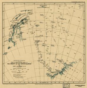 La mappa della Spedizione Endurance