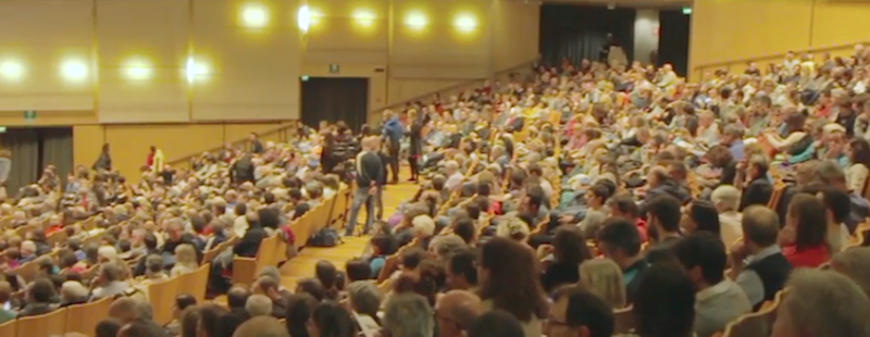 TFF2016, Auditorium Santa Chiara, serata con Messner. Fonte: www.youtube.com