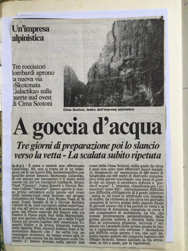 """Articolo tratto da """"La vùs des ladines"""". Fonte: Karpos"""