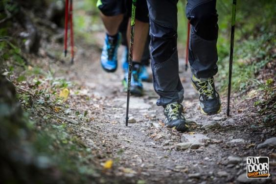 Nordic walking ad Outdoor Shop Test 2015