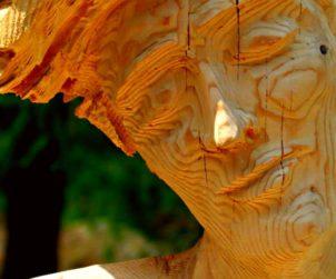 Scultura in legno. Fonte: rifugiolevimolinari.it