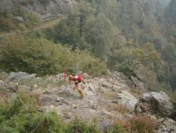 Paolo Bert a Rubinella. Fonte: Trail degli Invincibili