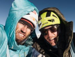Auer e Blumel in vetta al Gimmigela East. Fonte: facebook Auer