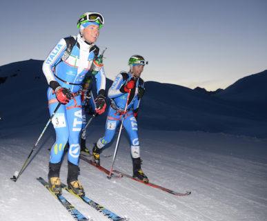 Scialpinismo. Adamello Ski Raid, 5^ Coppa delle Dolomiti. Boscacci-Antonioli. Foto: Elvis
