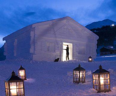 Livigno: Baita di neve