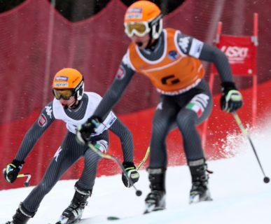 Bertagnolli e Casal in azione, nel SuperG a Tarvisio. Foto: Andrea Carloni