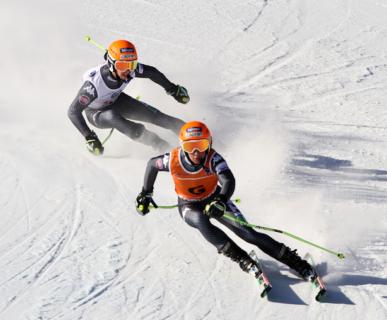 Mondiali Para Sci Alpino, Tarvisio 2017: il duo Bertagnolli-Casal. Foto: Andrea Carloni