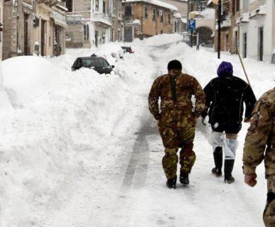 Gennaio 2017: terremoto e neve in Centro Italia. Fonte: ansa.it