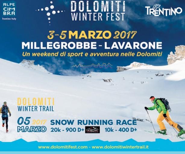 Locandina Dolomiti Winter Fest 2017 - Millegrobbe - Lavarone (Tn)