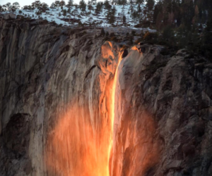 Horsetail Fall, Yosemite. Foto: rayophotography13. Fonte: Instagram
