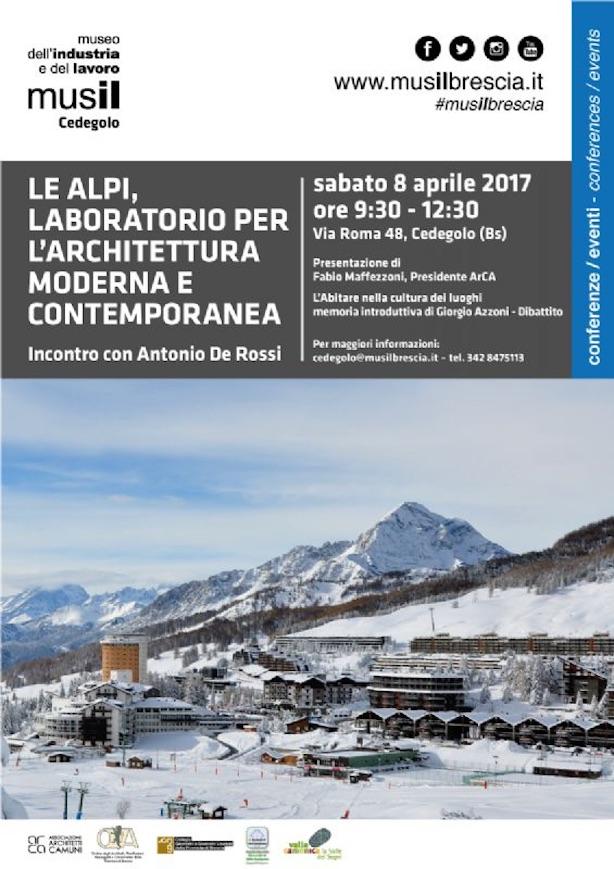Le alpi laboratorio per l architettura moderna e for Architettura moderna e contemporanea