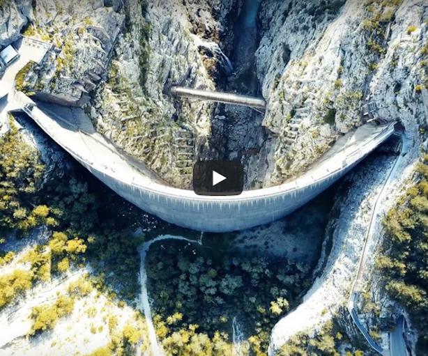 Video Diga Del Vajont Immagini Da Un Drone A 54 Anni