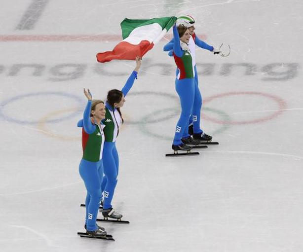 Olimpiadi PyeongChang: Italia d'argento nella staffetta femminile dello short track