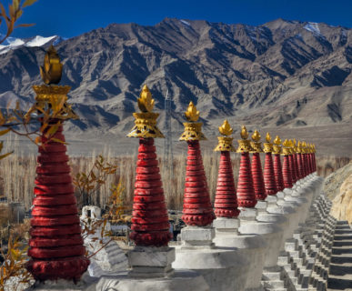 Un'immagine ravvicinata del pittoresco monastero di Thiksey, India, Ladakh - ph shutterstock