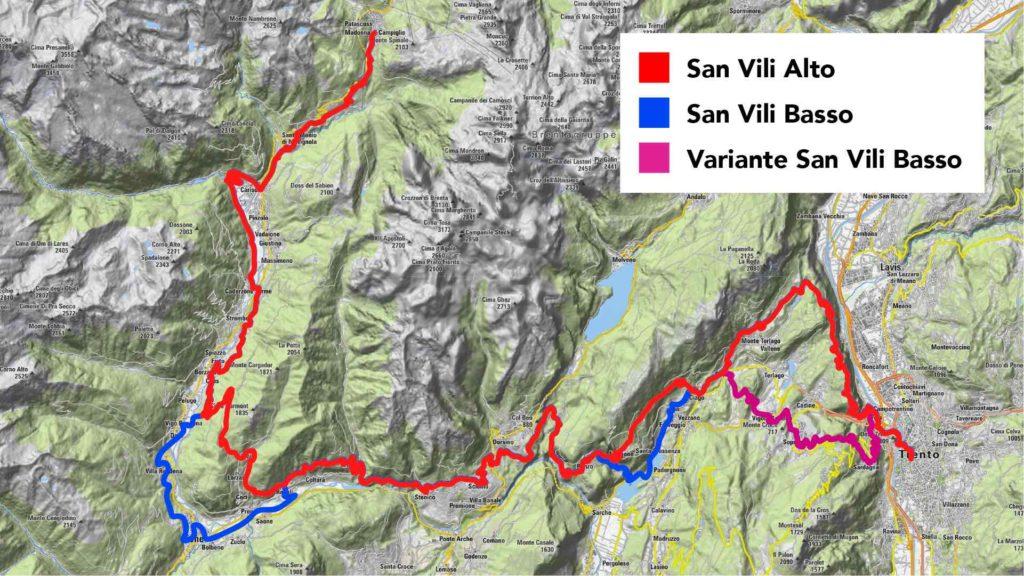 Mappa Cammino San Vili