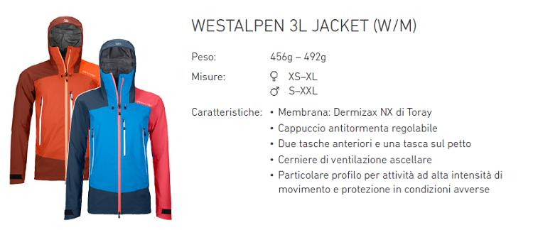 ortovox westalpen jacket